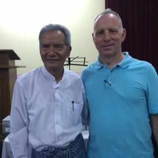 Bruce and Dr. Mung, still pastoring at 75